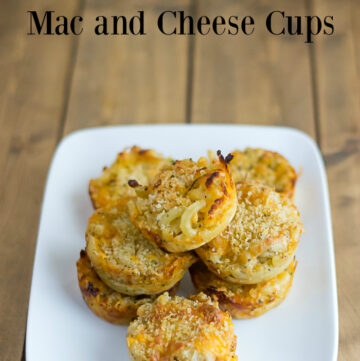 Garlic Ranch Mac and Cheese Cups recipe via flouronmyface.com
