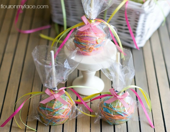 Paisley Cake Pops for a Girl Baby Shower party favors via flouronmyface