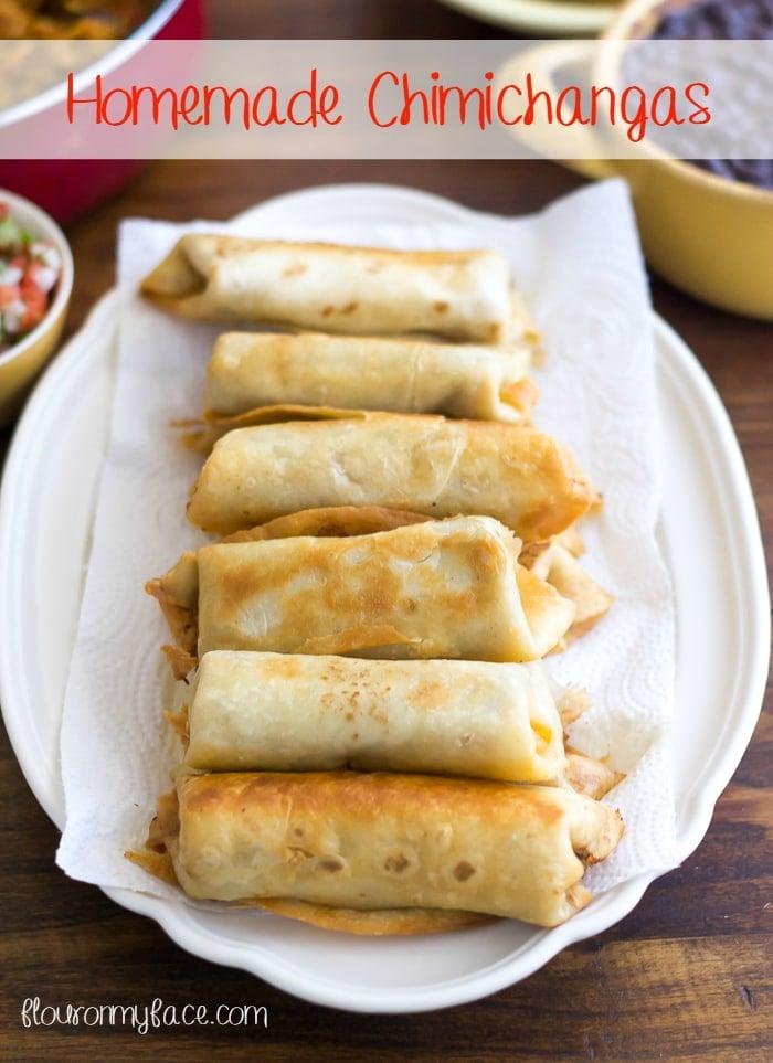 Homemade Chimichangas recipe via flouronmyface.com