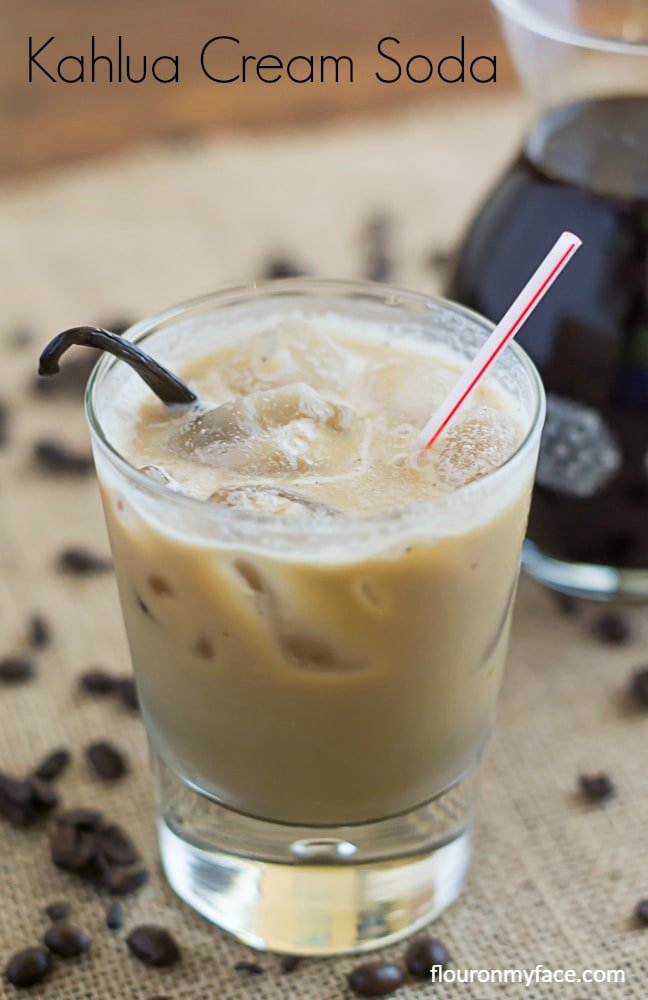 Kahlua Cream Soda recipe via flouronmyface.com