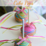Paisley Baby Shower Cake Pops for a Paisley themed girl baby shower via flouronmyface.com