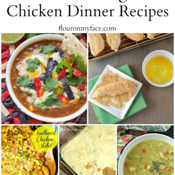 35 Comforting Chicken Dinner recipes via flouronmyface.com