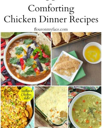 35 Comforting Chicken Dinner recipes via flouronmyface.com
