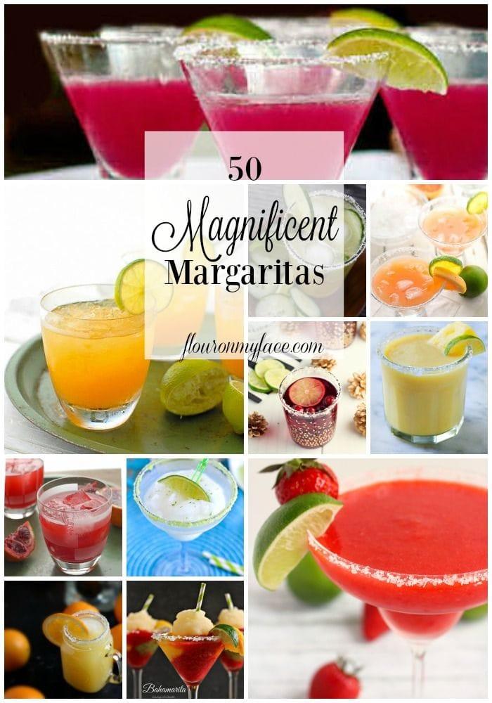 50 Margarita Recipes to help you celebrate National Margarita Day via flouronmyface.com