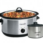Crock Pot 8 quart slow cooker sold with the Little Dipper on Amazon via flouronmyface.com #ad