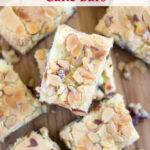 Cherry Marmalade Cake Bar recipe via flouronmyface.com