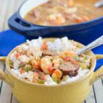 Crock Pot Creole Jambalaya #SundaySupper