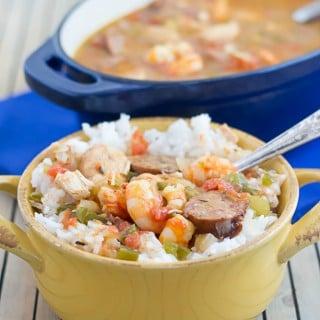 Crockpot Creole Jambalaya recipe via flouronmyface.com