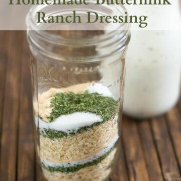 How to make Homemade Buttermilk Ranch Dressing mix recipe via flouronmyface.com