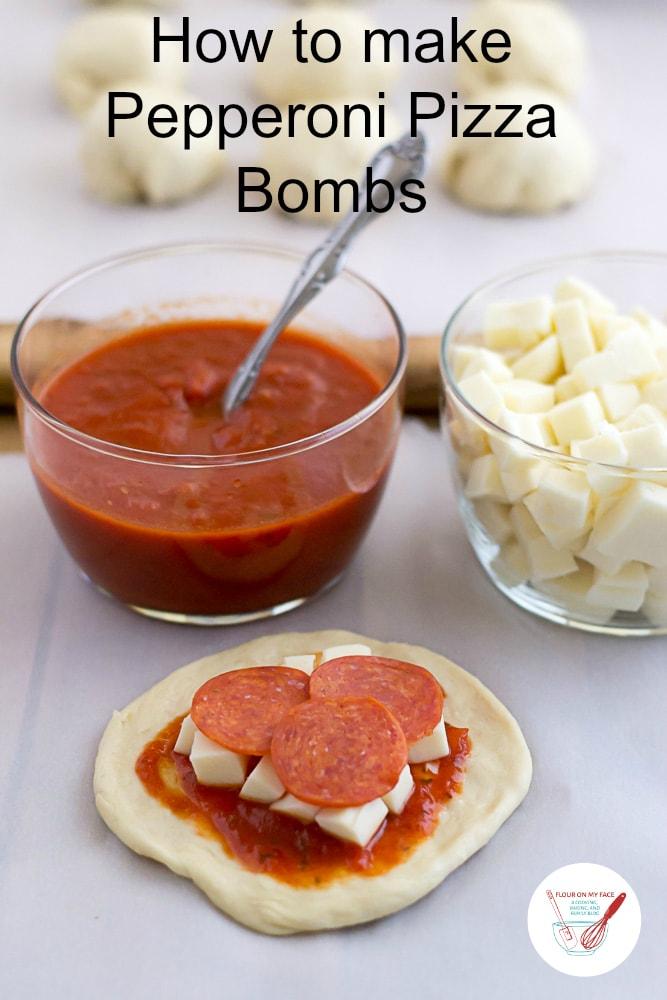 How to make homemade Pizza Bombs via flouronmyface.com