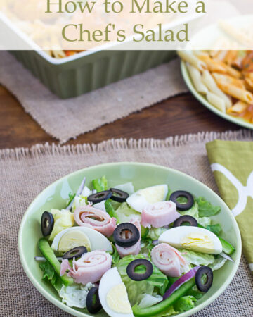 Ever wondered how to Make a Chef's Salad? After paying out the nose for a very large Chef's Salad at a local restaurant I decided I was going to save the money and make my own Chef's Salad at home. Chef's Salad recipe via flouronmyface.com