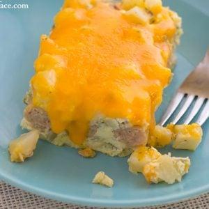 Crock Pot Sausage Breakfast Casserole recipe via flouronmyface.com