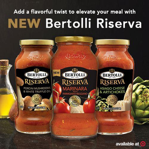 Bertolli Riserva sauce at Target via flouronmyface.com