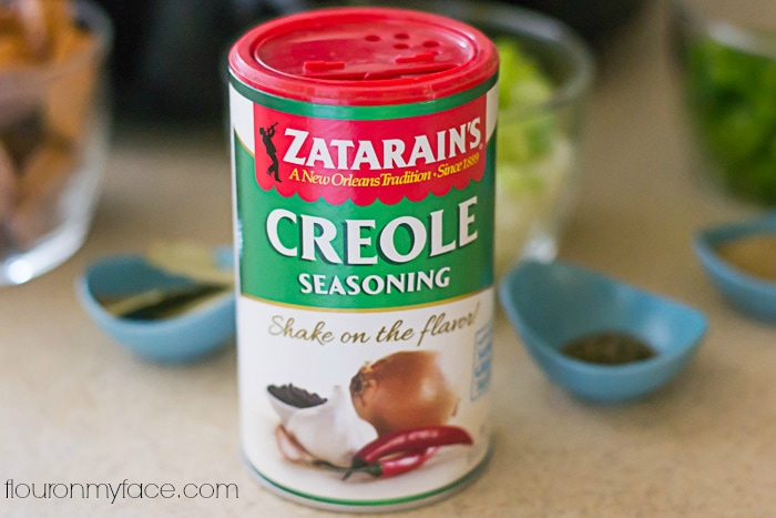 Zatarains's Creole Seasoning Crock Pot Jambalay recipe via flouronmyface.com