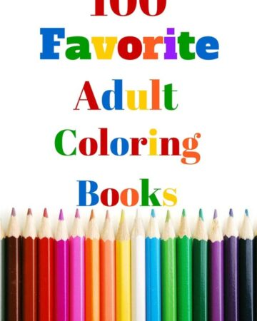 Favorite 100 Adult Coloring Books for stress relieving coloring for grown ups via flouronmyface