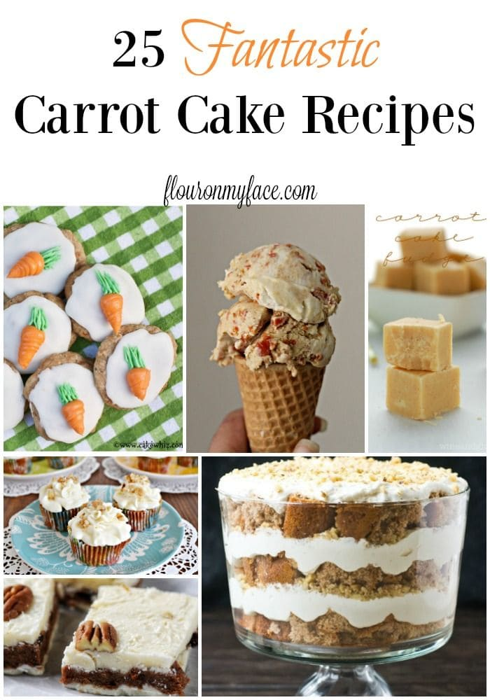 25 Fantastic Carrot Cakes recipes perfect for your Easter celebration via flouronmyface.com
