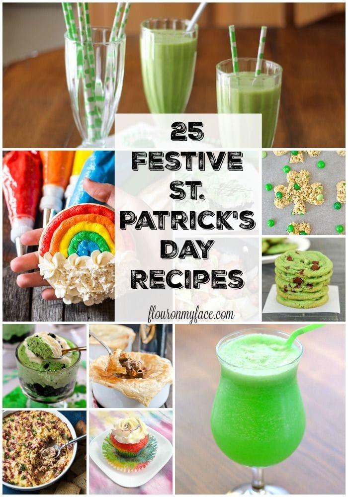 25 Festive St. Patrick's Day recipes via flouronmyface.com