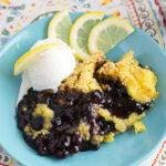Crock Pot Dump Cake Blueberry Lemon Cake recipe via flouronmyface.com