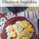 Crock Pot Cheesy Chicken Vegetables #CrockPotFriday