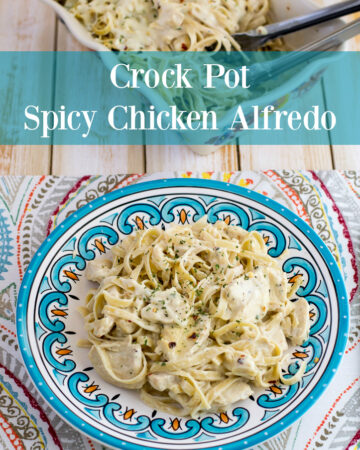 Crockpot recipe: Crock Pot Spicy Chicken Alfredo recipe via flouronmyface.com