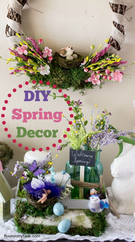 DIY Spring Decor Ideas via flouronmyface.com