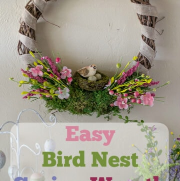 Easy DIY Bird Nest Spring Wreath