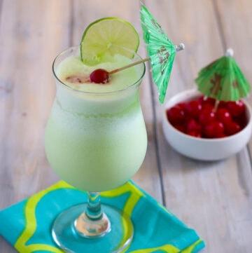 Midori Colada Cocktail recipe via flouronmyface.com
