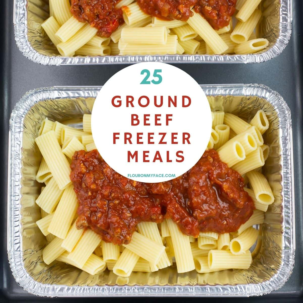 Filled trays of ground beef freezer meals