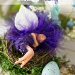Whimsical Sleeping Garden Fairy