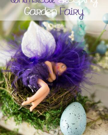 Make this DIY Whimsical Sleeping Garden Fairy via flouronmyface.com