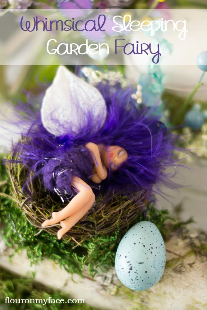 Make this DIY Whimsical Sleeping Garden Fairy via flouronmyface.com