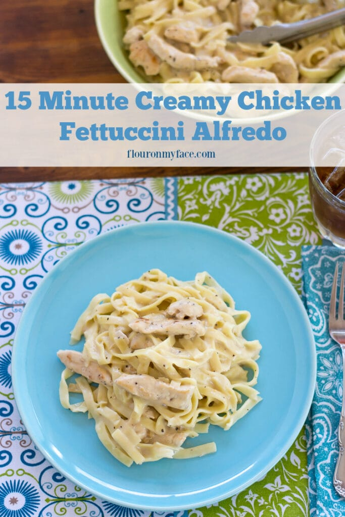 Tyson® Meal Kits: 15 Minute Creamy Chicken Fettuccini Alfredo available at Publix AD via flouronmyface.com