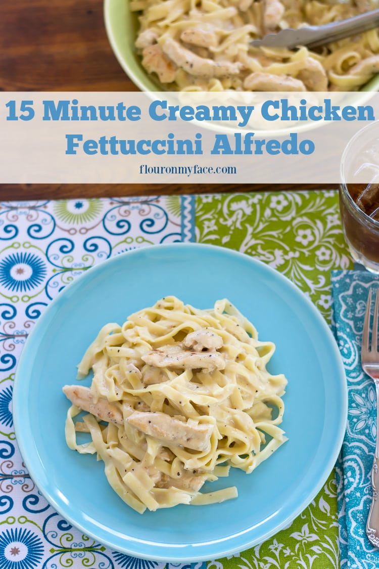 Tyson® Meal Kits: 15 Minute Creamy Chicken Fettuccini Alfredo available at Publix AD via flouronmyface.com