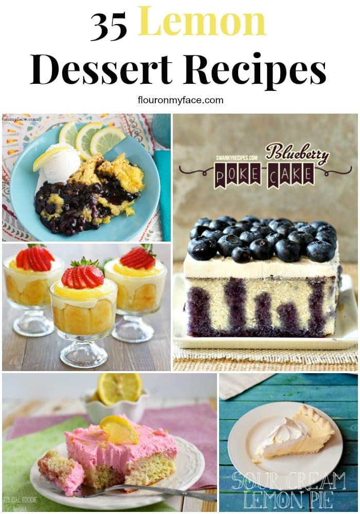 35 Lemon Dessert Recipes to help you celebrate Spring via flouronmyface.com