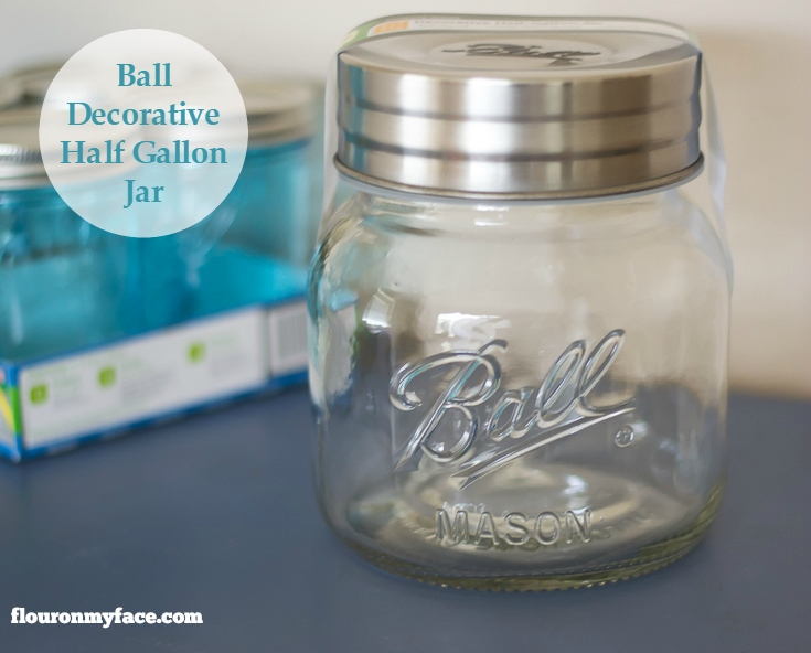 BALL Collection Elite Color Series Giveaway: Ball Half Gallon Decorating Jar is perfect for storage via flouronmyface.com