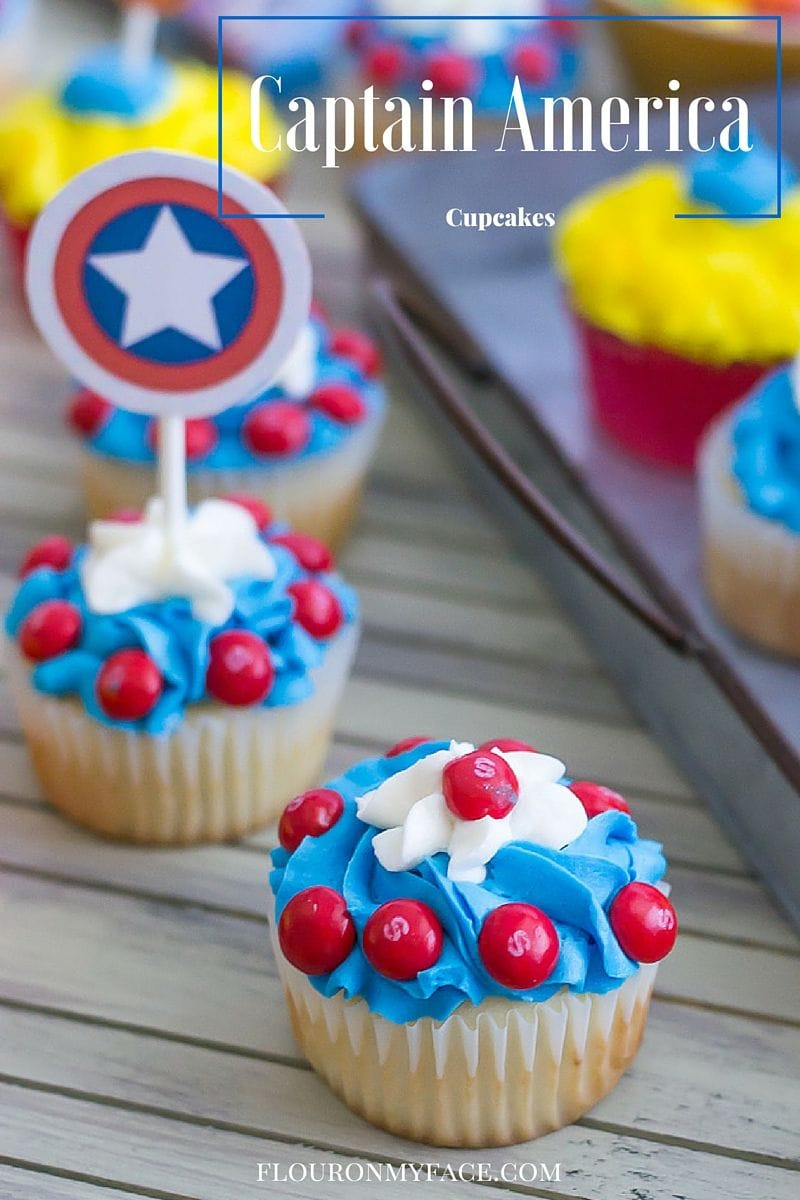 Captain America Cupcakes Flour On My Face