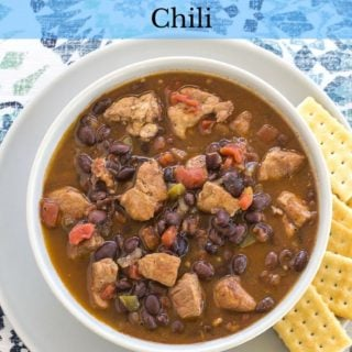 Crockpot recipe: Crock Pot Black Bean CHili recipe via flouronmyface.com