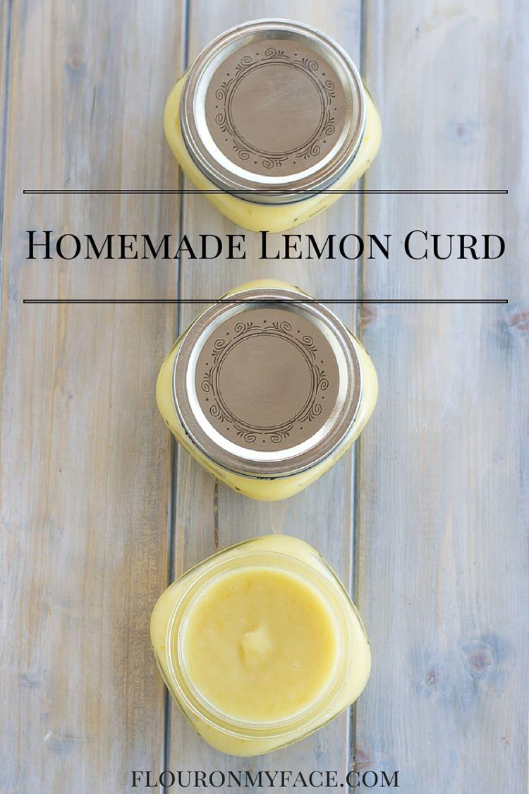 Easy Homemade Lemon Curd recipe via flouronmyface.com