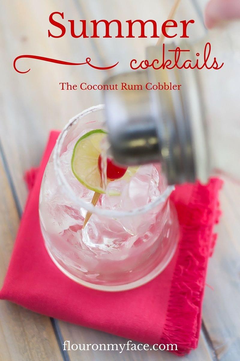 Summer Cocktails made with Bacardi Coconut Rum via flouronmyface.com