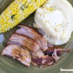 Crockpot Pork recipe: Tender Boneless Pork Roast Recipe made in a slow cooker via flouronmyface.com