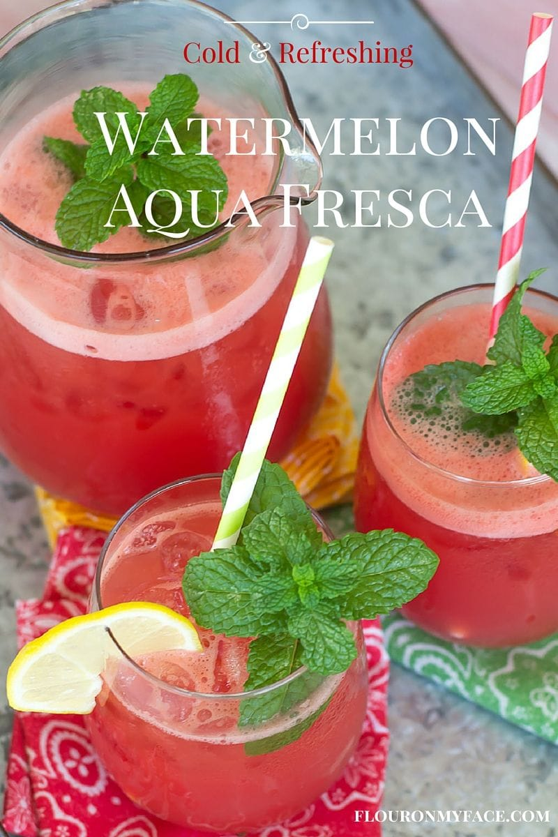 How to Make Watermelon Aqua Fresca via flouronmyface.com