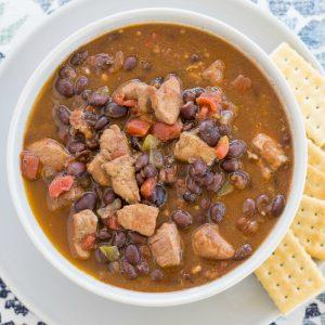 Black Bean Chili recipe via flouronmyface.com