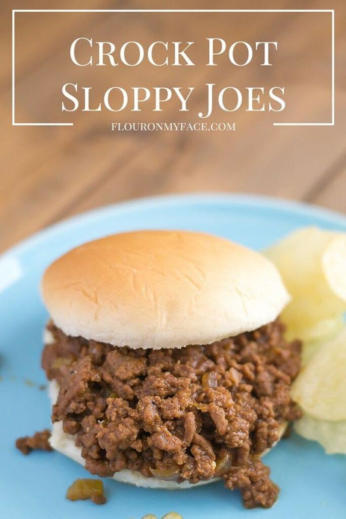 Crock Pot Sloppy Joes recipe via flouronmyface.com