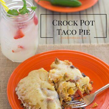 Crock Pot Taco Pie recipe via flouronmyface.com
