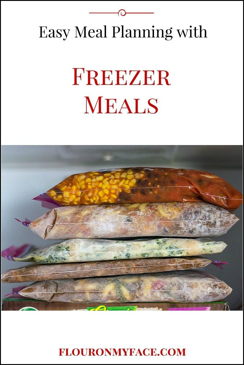 Easy Freezer Meals for busy families via flouronmyface.com