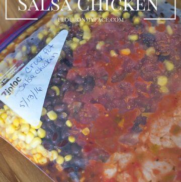 Easy Freezer Meals Crock Pot Salsa Chicken recipe