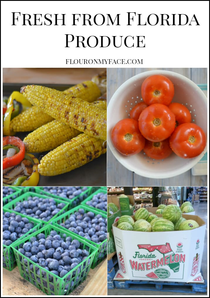Fresh from Florida Produce via flouronmyface.com #ad