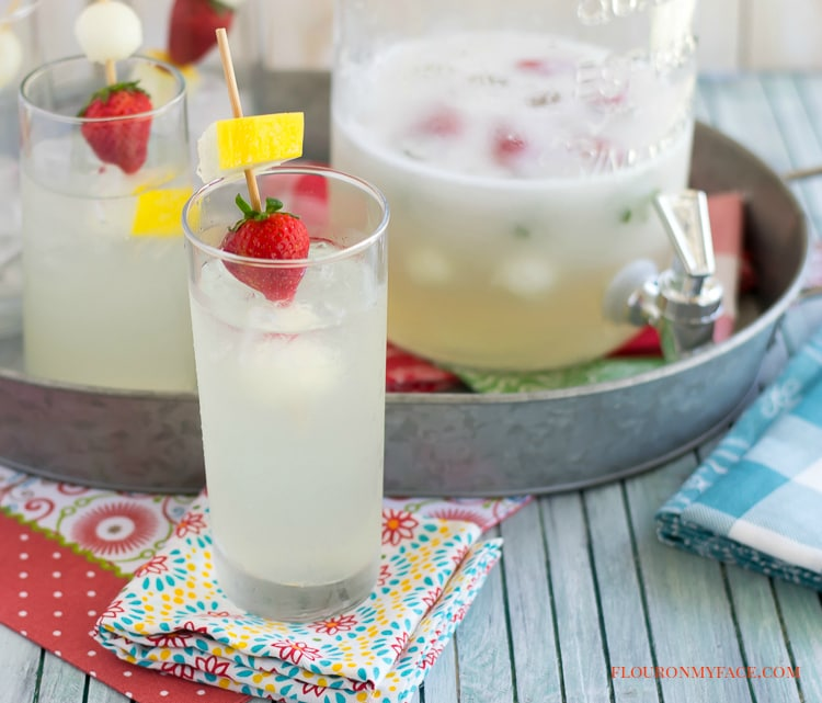 Make this Melon Aqua Fresca recipe for your next summer bbq beverage via flouronmyface.com