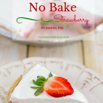 No Bake Strawberry Pudding Pie recipe