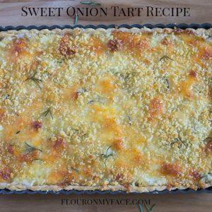 Sweet Onion Tart recipe via flouronmyface.com #ad